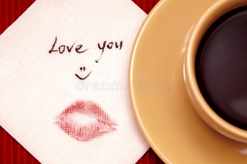 Download Note on napkin stock image. Image of colorful, lips, lovers - 27931607