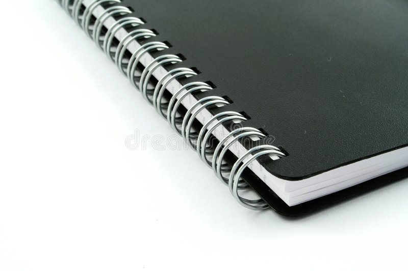 Note pad. On a white background royalty free stock photography