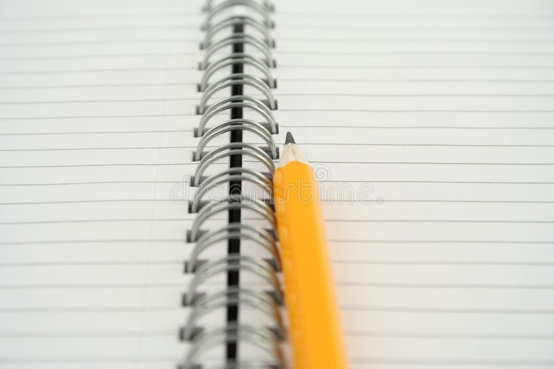 Note pad. On a white background stock photos