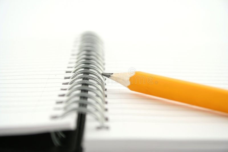 Note pad. On a white background royalty free stock image