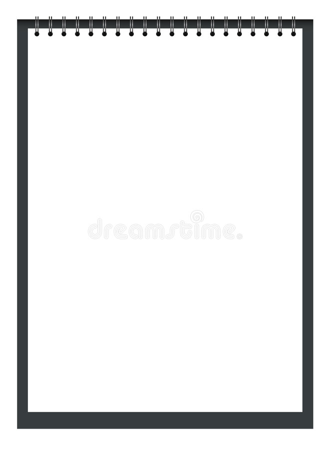 Note pad. White note pad with spiral - vector vector illustration