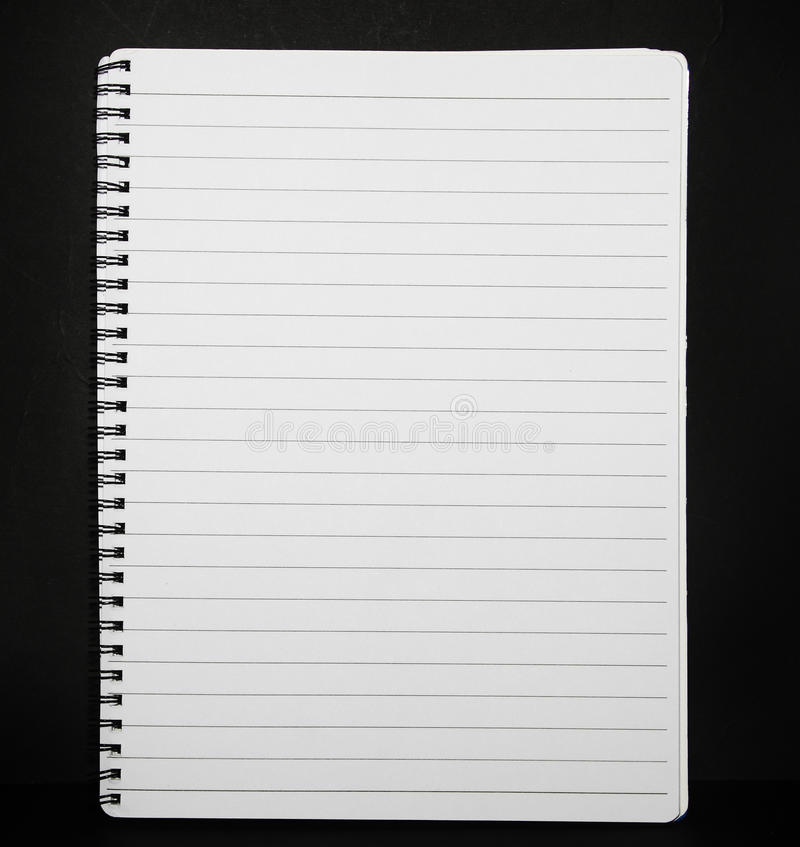 Note pad lined paper stock photo