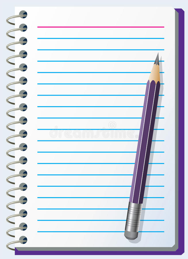 Download Note pad with pencil stock vector. Illustration of business - 12508041