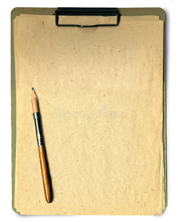 Note pad and pencil