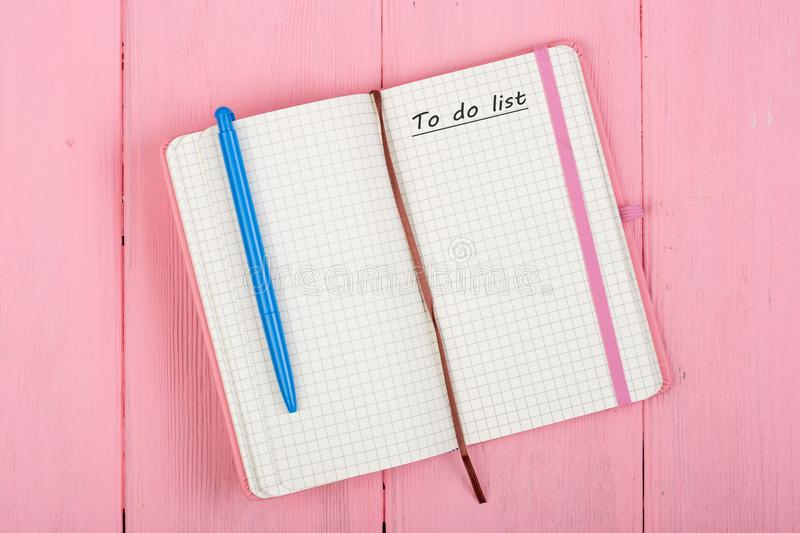 Note pad with text stock images