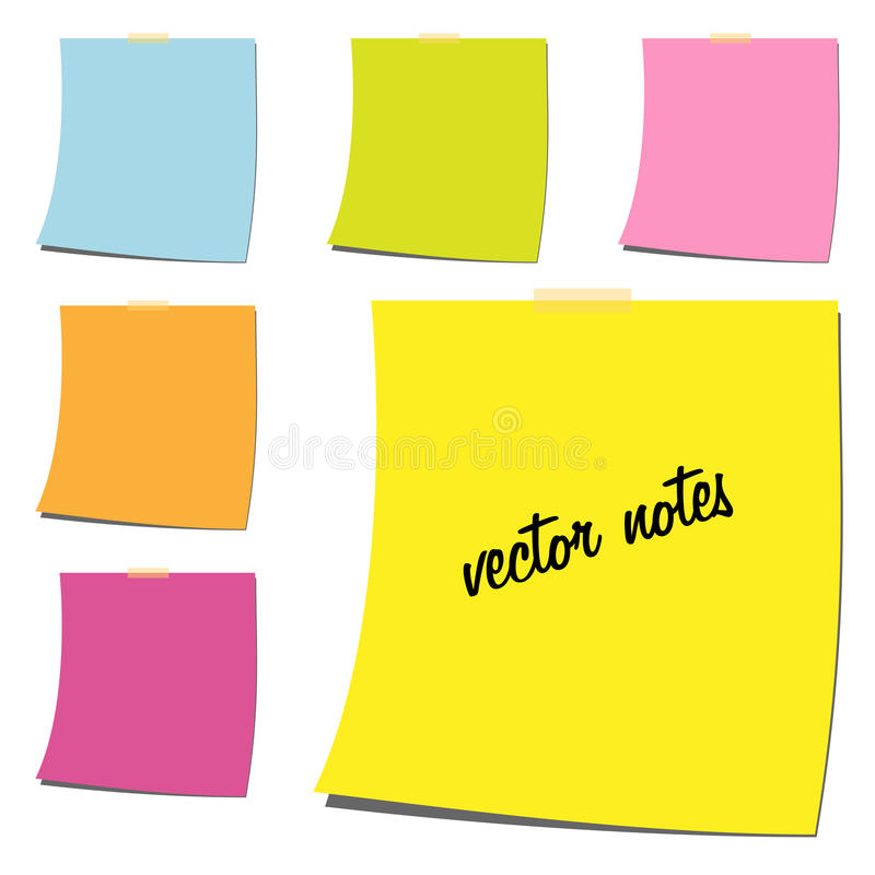 Note paper stock illustration