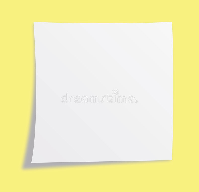 Note paper royalty free illustration