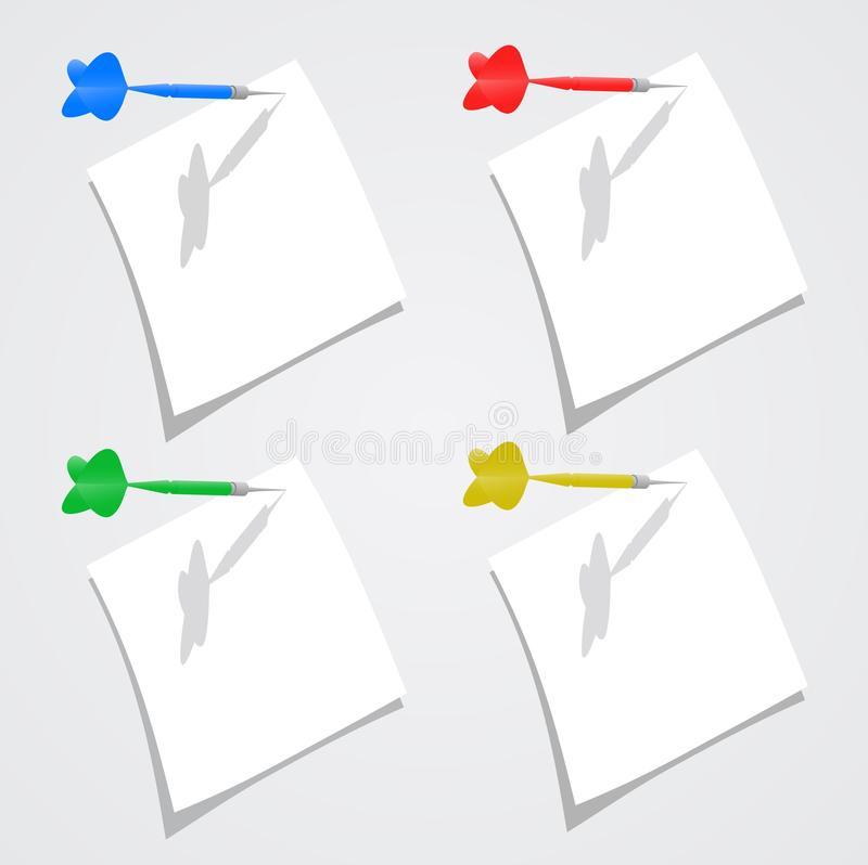 Download Note paper stock vector. Illustration of color, blue - 24009794