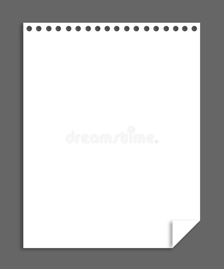 Download Note paper stock illustration. Image of message, dayplaner - 5126361