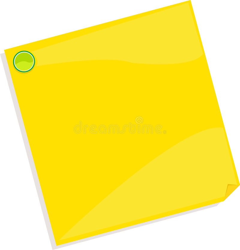 Note paper. Post vector writing notes office royalty free illustration