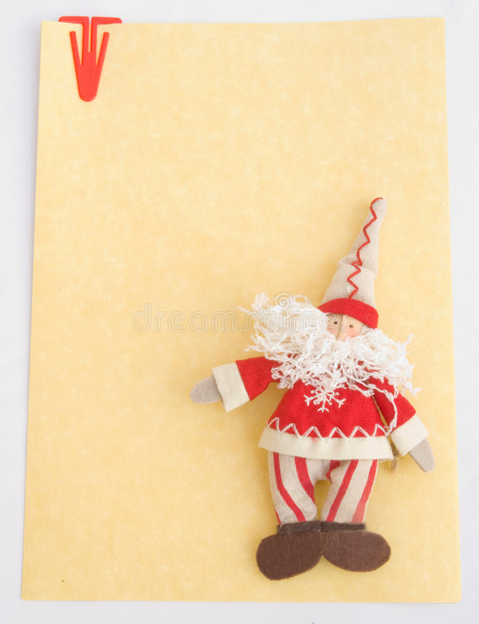 Download Note Paper: Christmas, New Year, With Santa Claus. Stock Photo - Image: 11972680