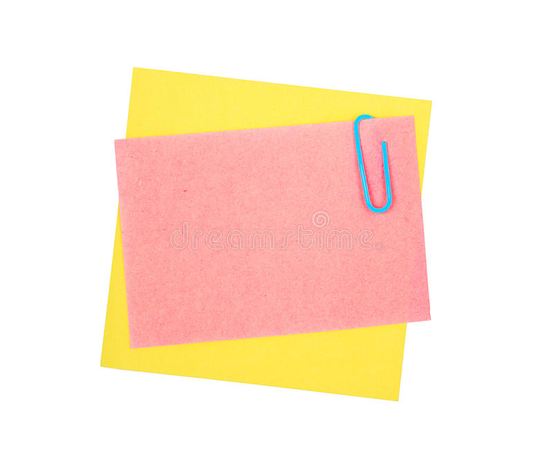 Download Note paper and clip stock image. Image of nobody, adhesive - 25118981