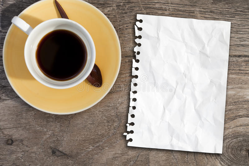 Download Note Paper On Coffee Table Royalty Free Stock Photo - Image: 15606405