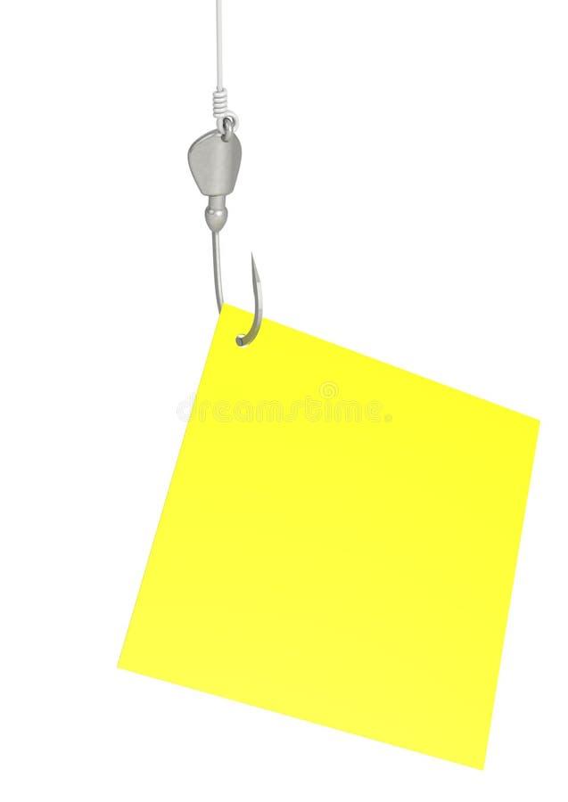 Note paper on hook vector illustration