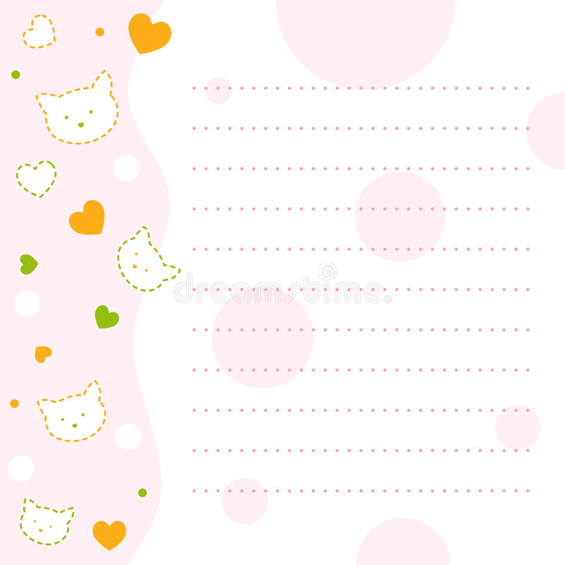 Note paper for kids stock image