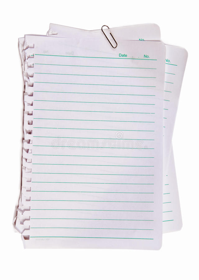 Note paper and metal pape clip