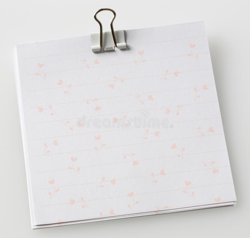 Download Note paper with paper clip stock image. Image of insert - 26821299