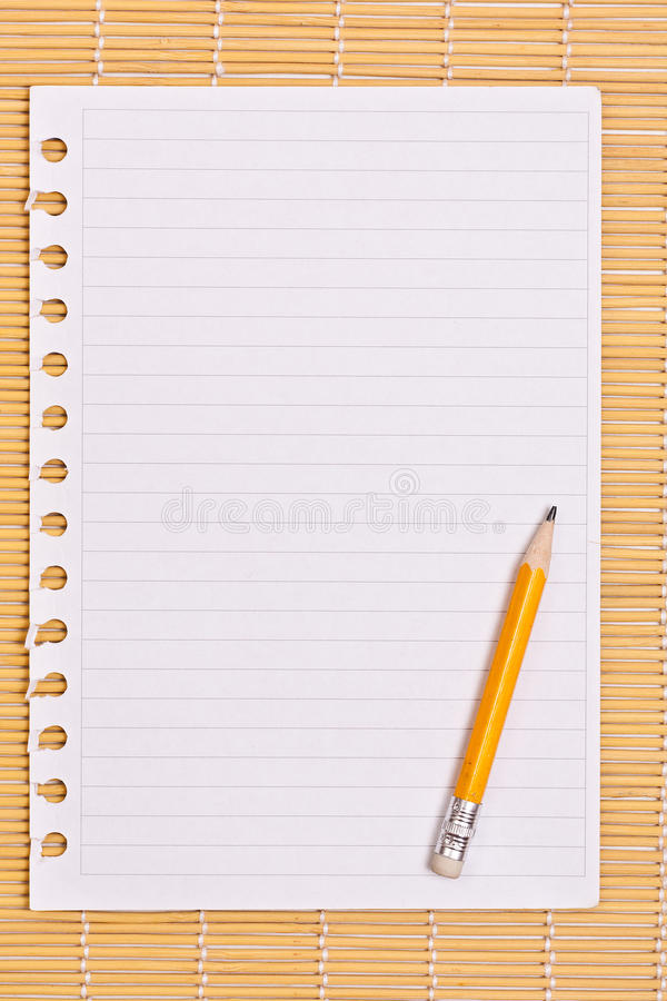 Download Note paper and pencil stock photo. Image of texture, list - 25115140