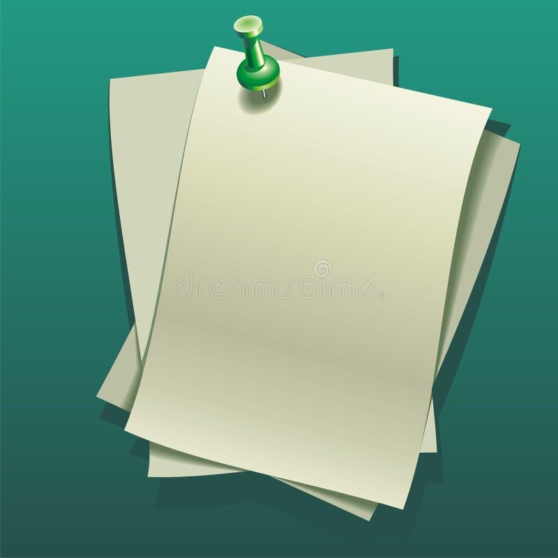 Note-paper prześcieradła ilustracja wektor