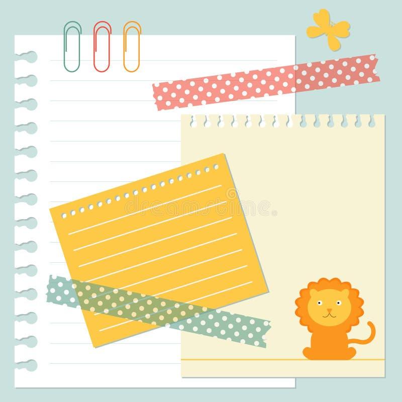 Note paper set royalty free illustration