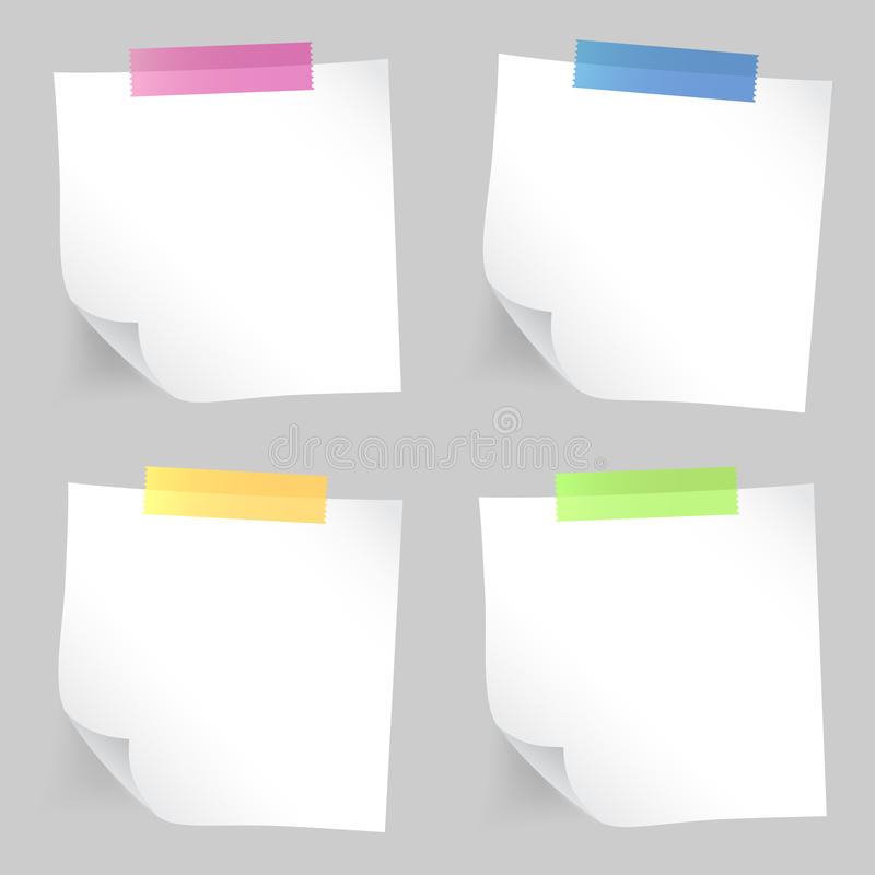 Note paper set stock photography