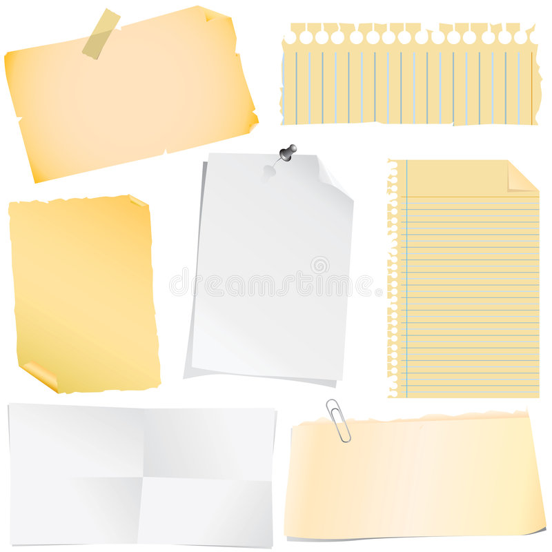 note paper vector royalty free illustration