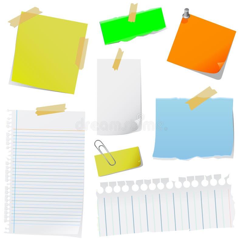 note paper vector ελεύθερη απεικόνιση δικαιώματος