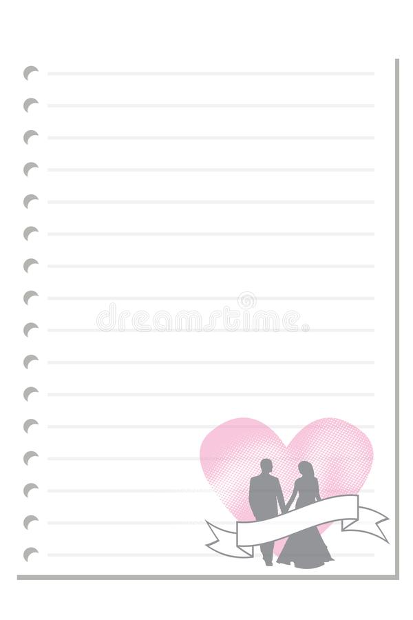 Note valentine days paper sheet 2. Note paper on white background blank pad notebook page memo post sheet torn notepad notepaper old ripped texture book with vector illustration