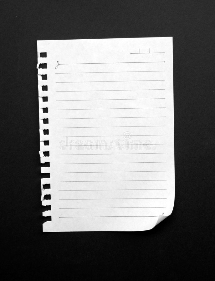 Note papers. Writing note paper on gradient background stock images