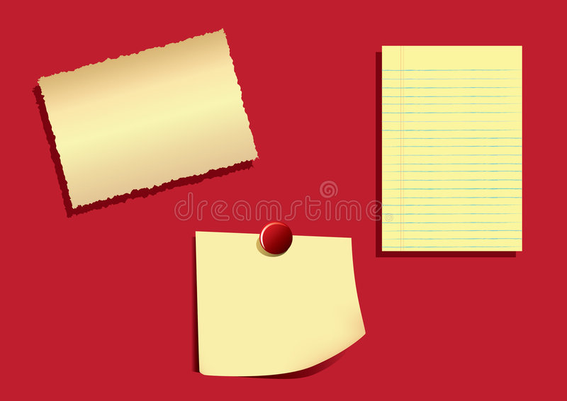 Download Note Papers -EPS Vector- stock vector. Illustration of reminder - 8866976