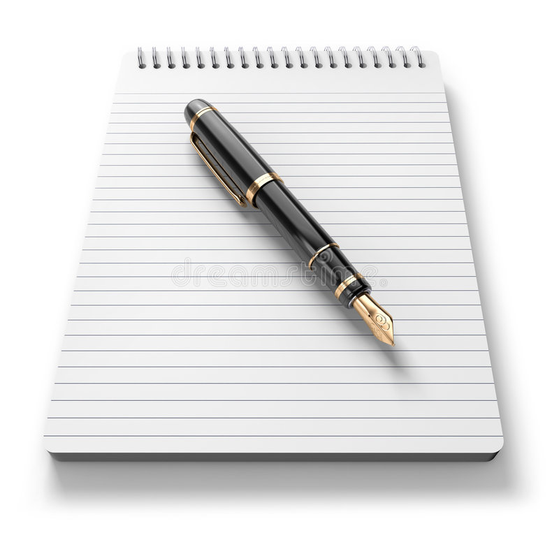 Note Pat & Pen stock photography
