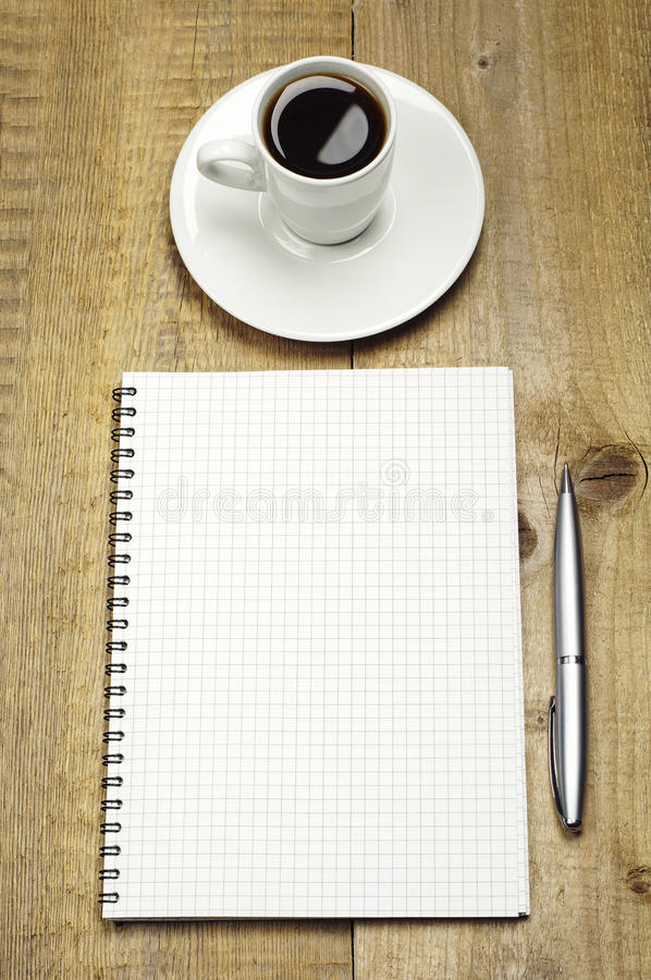Download Note, Pen And Cup Of Coffee Stock Image - Image: 28902263