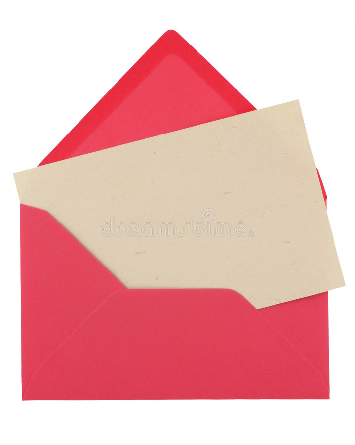Note in a pink envelope royalty free stock images