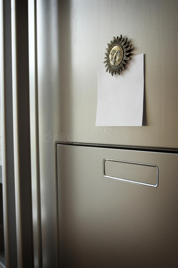 Note on refrigerator stock images
