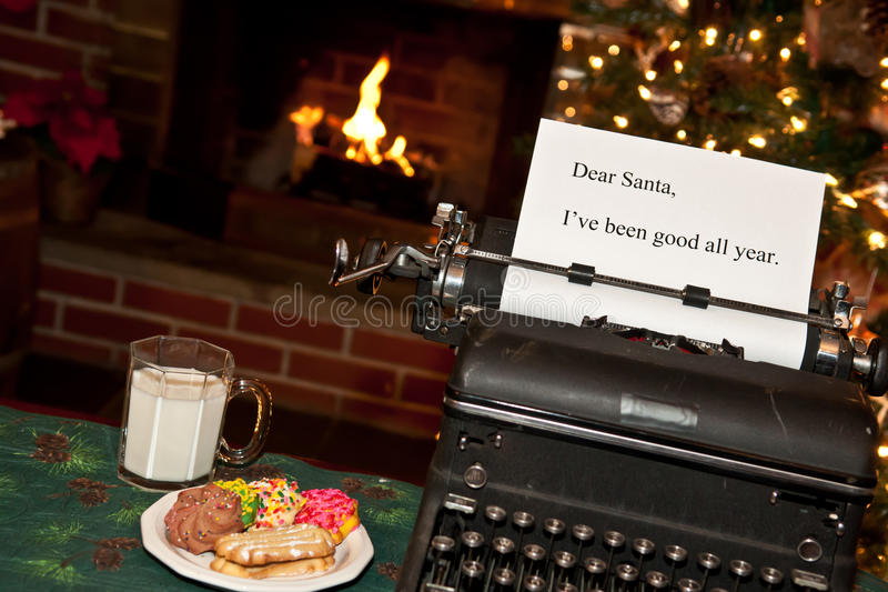 Note for Santa royalty free stock photography