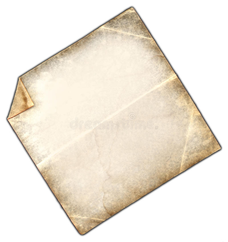 Note Scrap. This is a vintage paper note with a grunge texture stock photos