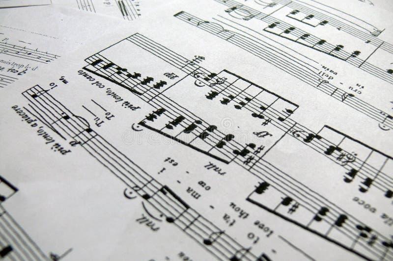 Note sole di canzone fotografie stock libere da diritti