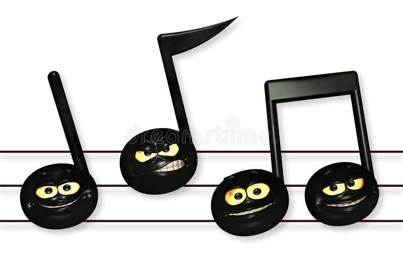 Smiley Music Notes fotografia stock