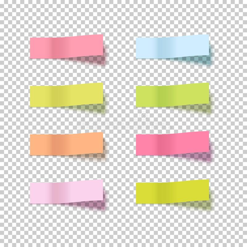 Note sticky sticker isolated. Adhesive office paper tape vector illustration. Notes sticker on transparent vector illustration