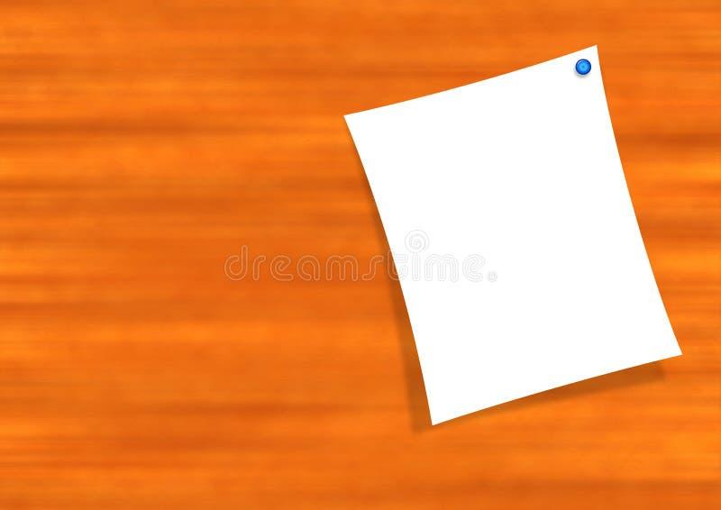 Note sur le panneau en bois illustration stock