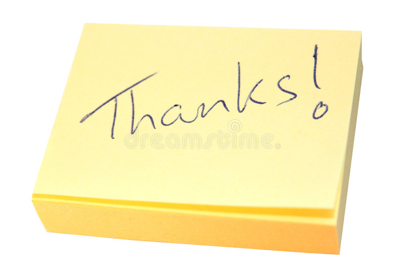 Note of thanks stock images