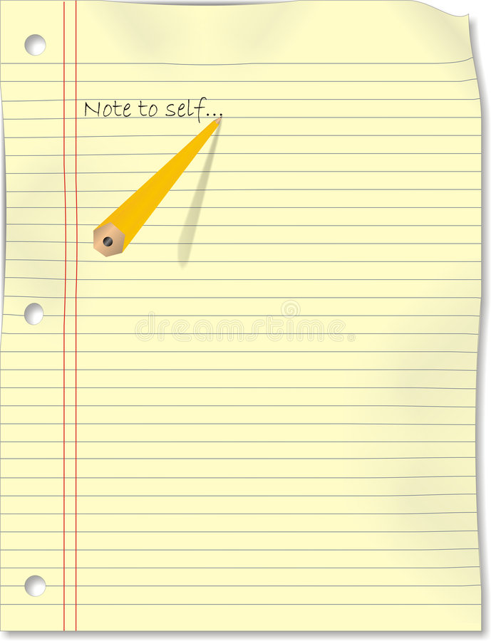 Download Note to Self Vector stock vector. Illustration of yellow - 8792418