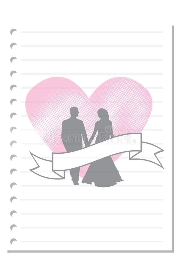 Note valentine days paper sheet 1. Note paper on white background blank pad notebook page memo post sheet torn notepad notepaper old ripped texture book with royalty free illustration