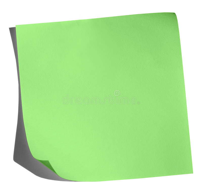 Note verte images stock