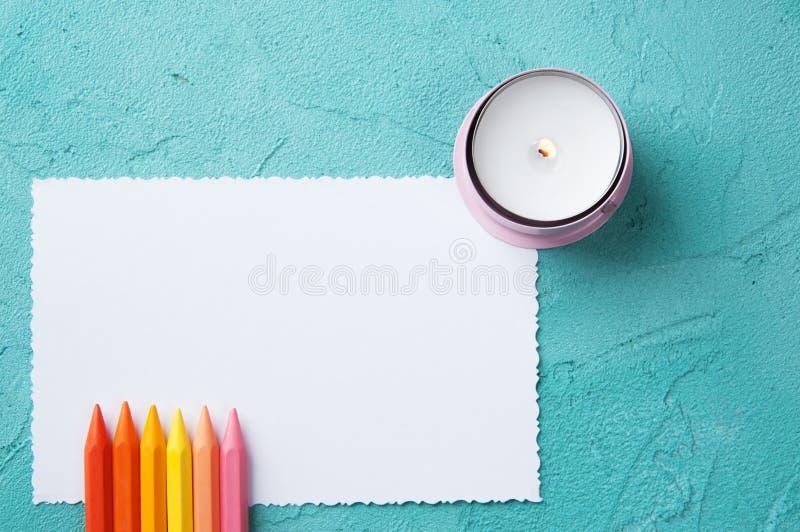 Note vide blanche photographie stock libre de droits