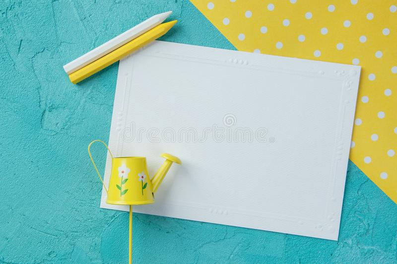 Note vide blanche photographie stock