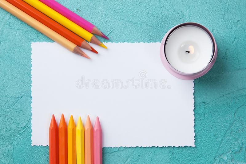 Note vide blanche image stock