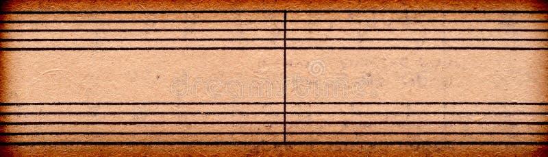 Note vuote di musica sul vecchio strato di carta immagini stock