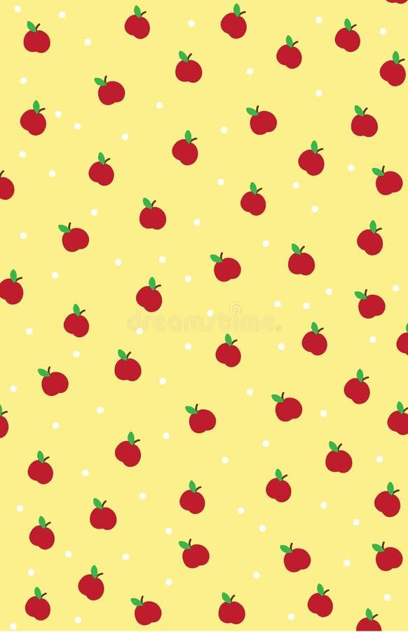 noteboks的果子苹果逗人喜爱的背景 免版税库存图片