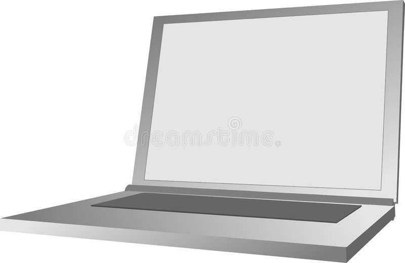 Download Notebook stock illustration. Illustration of computer, notebook - 106388